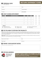 Return Form